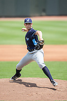 Wilmington Blue Rocks starting pitcher Josh Staumont (19) in action against the Winston-Salem Dash at BB&T Ballpark on June 26, 2016 in Winston-Salem, North Carolina.  The Dash defeated the Blue Rocks 5-1.  (Brian Westerholt/Four Seam Images)