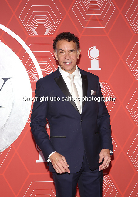 Brian Stokes Mitchell  attends the 74th Tony Awards-Broadway's Back! arrivals at the Winter Garden Theatre in New York, NY, on September 26, 2021.