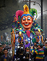 The Rex parade rolls down St. Charles Avenue in New Orleans on Mardi Gras day, despite threat of rain, Tuesday, February 24, 2004..(AP PHOTO/CHERYL GERBER)...