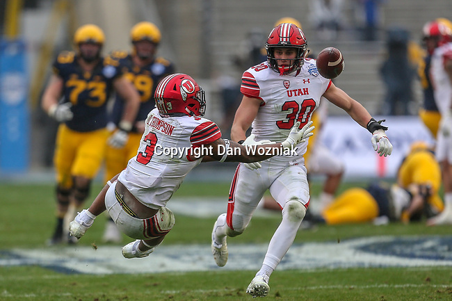 Utah Utes quarterback Troy Williams (3) in action during the Zaxby's Heart of Dallas Bowl game between the Utah Utes vs. West Virginia Mountaineers at the Cotton Bowl Stadium in Dallas, Texas.