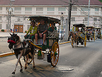 Kalelesa in the old part of Manila