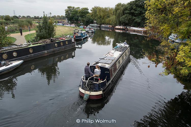 Houseboat on the River Lea, Hackney, London.