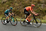 The breakaway including Michael Schär (SUI) CCC Team and Tom-Jelte Slagter (NED) B&B Hotels-Vital Concept in action during Stage 1 of Criterium du Dauphine 2020, running 2185km from Clermont-Ferrand to Saint-Christo-en-Jarez, France. 12th August 2020.<br /> Picture: ASO/Alex Broadway | Cyclefile<br /> All photos usage must carry mandatory copyright credit (© Cyclefile | ASO/Alex Broadway)
