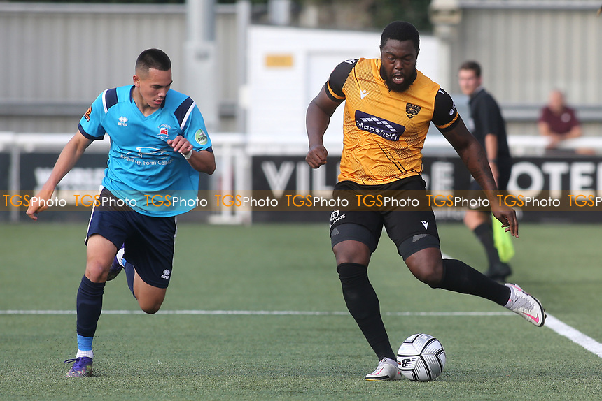 Jerome Binnom Williams of Maidstone United in action during Maidstone United vs Eastbourne Borough, Vanarama National League South Football at the Gallagher Stadium on 9th October 2021