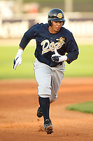 Charleston right fielder Jose Tabata (#39) heads to third base during the River Dogs 3 run first inning versus Kannapolis at Fieldcrest Cannon Stadium in Kannapolis, NC, Friday, April 28, 2006.  The River Dogs defeated the Intimidators 8-0.