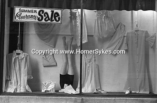 Shop window. Ladies clothing store Trenton, New Jersey USA 1969.