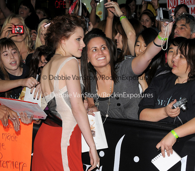 """Kristen Stewart at Summit Entertainment's highly anticipated Premiere of """"Twilight"""" held at The Mann's Village Theatre in Westwood, California on November 17,2008                                                                     Copyright 2008 Debbie VanStory/RockinExposures"""