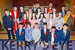 ScoilNuachabháil 6th class at their Confirmation in St Brendan's Church, Ballmac on Thursday with Bishop Ray Browne, Michael Bulger (Principal), Anna Mason (Class Teacher) and Fr Gearoid Walsh