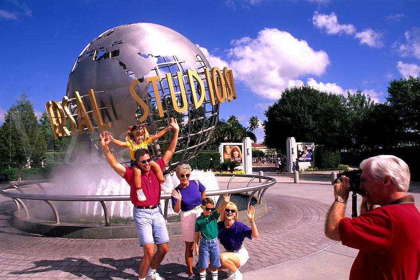 Family of three generations Universal Studios in Orlando Florida