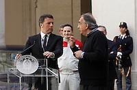 presentazione della nuova berlina Alfa Romeo Giulia a Palazzo Chigi, Roma, 5 maggio 2016.<br /> presentation of the new Alfa Romeo Giulia sedan at Chigi Palace, Rome, 5 May 2016.<br /> UPDATE IMAGES PRESS/Isabella Bonotto