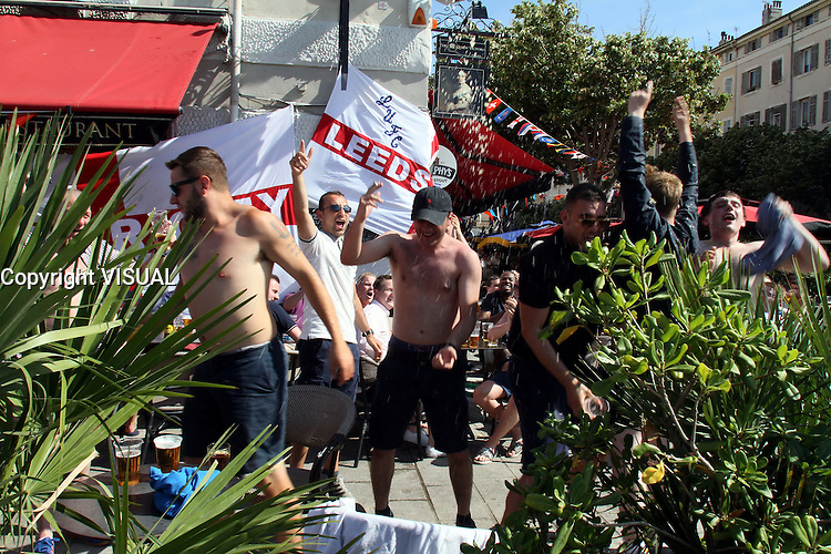 9 juin 2016 les supporters anglais sont a Marseille pour le 1er match de l euro de leur equipe