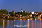 Town of Magog on Baie de Magog, Lac Memphremagog, Quebec Canada
