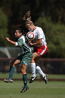 3 September 2006: Stanford Cardinal Allison Falk during Stanford's 2-0 win against Cal Poly Mustangs at Maloney Field in Stanford, CA.