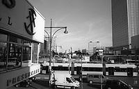 berlino, quartiere mitte, alexanderplatz. veduta verso karl-marx allee a est--- berlin, mitte district, alexanderplatz. east view towards karl-marx allee