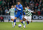 St Johnstone v Celtic...18.12.11   SPL .Victor Wanyama and Marcus Haber.Picture by Graeme Hart..Copyright Perthshire Picture Agency.Tel: 01738 623350  Mobile: 07990 594431