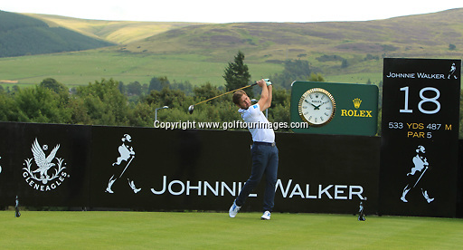 Robert ROCK (ENG) during the ProAm ahead of the 2013 Johnnie Walker Championship being played over the PGA Centenary Course, Gleneagles, Perthshire from 22nd to 25th August 2013: Picture Stuart Adams www.golftourimages.com: 21st August 2013