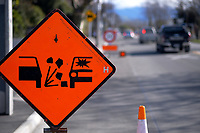 Road works in Masterton, New Zealand on Friday, 4 August 2020. Photo: Dave Lintott / lintottphoto.co.nz