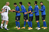 Giovanni Di Lorenzo, Alessandro Bastoni, Danilo D'Ambrosio, Roberto Gagliardini and Roberto Soriano of Italy during the friendly football match between Italy and Estonia at Artemio Franchi Stadium in Firenze (Italy), November, 11th 2020. Photo Andrea Staccioli/ Insidefoto