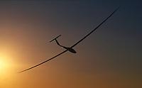 Segelflug, Nimbus 3 D, Sonnenuntergang