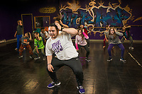 UAA Alum Toby Carillo teaches a dance routine to students at Underground Dance Company, an Anchorage's dance studio specializing in Hip-Hop & Street Style dance.
