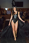 Model walks runway in an outfit from the Irina Shabayeva Linergie fashion show the Domenico Vacca showroom at 15 West 55 Street in New York City, on February 14, 2017; during New York Fashion Week Fall Winter 2017.