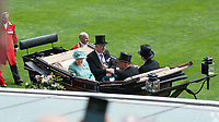 Her Majesty the Queen arrives in the parade ring during The Coronation Stakes Day of Royal Ascot 2017 at Royal Ascot Racecourse on Friday 23rd June 2017 (Photo by Rob Munro/Stewart Communications)