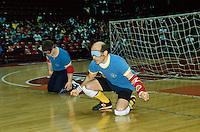 """- Federazione Italiana Sport Disabili, partita di """"torball"""" (sorta di calcetto) con giocatori non vedenti<br /> <br /> - Italian Federation of Sports for the Disabled, game of """"torball"""" (kind of soccer) with blind players"""