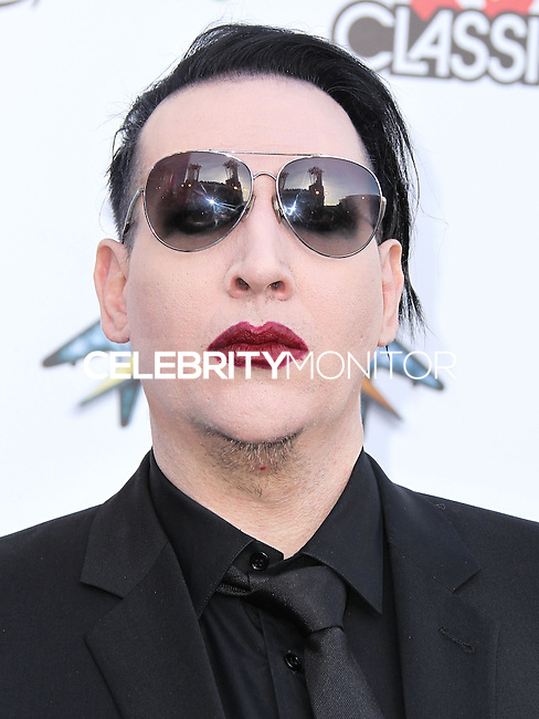 LOS ANGELES, CA, USA - APRIL 23: Marilyn Manson at the 2014 Revolver Golden Gods Award Show held at Club Nokia on April 23, 2014 in Los Angeles, California, United States. (Photo by Xavier Collin/Celebrity Monitor)