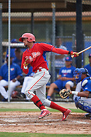 Philadelphia Phillies Jose Pujols (23) during an instructional league game against the Toronto Blue Jays on September 28, 2015 at Englebert Complex in Dunedin, Florida.  (Mike Janes/Four Seam Images)