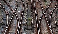 Nederland  Amsterdam - 2020.    Metro en trein rails. wissels.  Foto : ANP/ Hollandse Hoogte / Berlinda van Dam