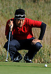 3 October 2008: Kevin Na lines up a putt during the second round at the Turning Stone Golf Championship in Verona, New York.