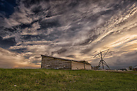 Interesting monsoonal cloudscape this evening over a turn-of-the-century ranch and classic hay derrick in eastern Summit County, Utah. This derrick is still used today to move hay bales, and sometimes serves as a swing for neighborhood kids. July 28, 2013.