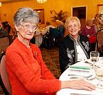 Torrington, CT-10 September 2012-091012CM17-  Social Moment-- The Torrington Woman's Club celebrates their 90th Anniversary at the Cornucopia Banquet Hall in Torrington: L-R-- Elaine Hincliffe of New Hartford and Muriel Popham of Harwinton. Christopher Massa Republican-American