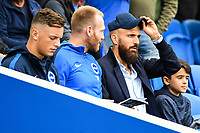 Bruno Saltor Captain of Brighton & Hove Albion (2)  in the stands due to injury during the Premier League match between Brighton and Hove Albion and Manchester United at the American Express Community Stadium, Brighton and Hove, England on 19 August 2018. Photo by Edward Thomas / PRiME Media Images.