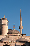Blue Mosque 02 - Minaret and domes of the Blue Mosque, Sultanahmet, Istanbul, Turkey