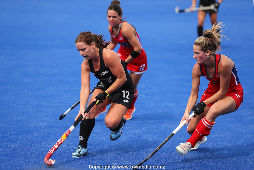 Ella Gunson during the Pro League Hockey match between the Blacksticks women and the USA, Nga Punawai, Christchurch, New Zealand, Sunday 16 February 2020. Photo: Simon Watts/www.bwmedia.co.nz