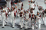 Olympic team of Hungary during the parade of nations at the Opening ceremony of the 2014 Sochi Olympic Winter Games at Fisht Olympic Stadium on February 7, 2014 in Sochi, Russia. Photo by Victor Fraile / Power Sport Images