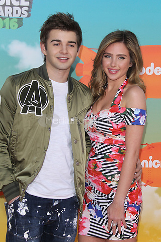 INGLEWOOD, CA - MARCH 12: Jack Griffo and Ryan Newman at Nickelodeon's 2016 Kids' Choice Awards at The Forum on March 12, 2016 in Inglewood, California. Credit: mpi24/MediaPunch