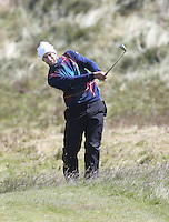 Sunday 31st May 2015; Seve Benson, England, plays his approach to the 8th green<br /> <br /> Dubai Duty Free Irish Open Golf Championship 2015, Round 4 County Down Golf Club, Co. Down. Picture credit: John Dickson / DICKSONDIGITAL