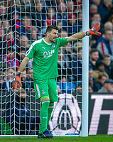 Goalkeeper Vicente Guaita of Crystal Palace during the Premier League match between Crystal Palace and Chelsea at Selhurst Park, London, England on 30 December 2018. Photo by Andrew Aleks.