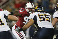 1 December 2007: Emmanuel Awofadeju during Stanford's 20-13 win over California in the 110th Big Game at Stanford Stadium in Stanford, CA. Stanford leads the rivalry series over California, 55-44-11.