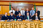 Front Chief Superintendent Eileen Foster, Assistant Commissioner Anne Marie McMahon, Garda Commissioner Drew Harris, /Cllr Niall Kelleher and Moira Murrell CEO of Kerry County Council. Back from left: Superintendent Fearghal Pattwell, Superintendent Dan Keane, Superintendent Flor Murphy, Christy O'Connor, Director of Corporate Services, Sgt James O'Donnell and /Charlie O'Sullivan KCC at the Joint Policing Committee meeting at County Buildings, Tralee on Friday.