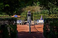 Hilversum, The Netherlands, September 2, 2018,  Tulip Tennis Center, NKS, Umpire<br /> Photo: Tennisimages/Henk Koster