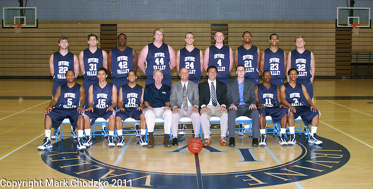 Irvine Valley College basketball team photo.