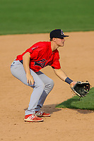 Peoria Chiefs third baseman Andy Young (15) during a Midwest League game against the Beloit Snappers on April 15, 2017 at Pohlman Field in Beloit, Wisconsin.  Beloit defeated Peoria 12-0. (Brad Krause/Four Seam Images)