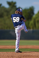 Milwaukee Brewers pitcher Josh Hader (59) during an instructional league game against the Cleveland Indians on October 8, 2015 at the Maryvale Baseball Complex in Maryvale, Arizona.  (Mike Janes/Four Seam Images)