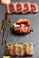 Europe/France/2B/Haute Corse/Balagne/Calvi: Déclinaison de thon rouge de palangre ,recette de Thomas d'Arcangelo,  Hôtel-Restaurant: La Signoria