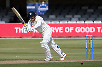 Stuart Poynter of Durham hits 4 runs to bring up his fifty during Essex CCC vs Durham CCC, LV Insurance County Championship Group 1 Cricket at The Cloudfm County Ground on 16th April 2021