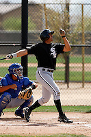 Christian Marrero  -  Chicago White Sox - 2009 spring training.Photo by:  Bill Mitchell/Four Seam Images