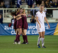Ashley Meier. Florida State defeated Virginia Tech, 3-2,  at the NCAA Women's College Cup semifinals at WakeMed Soccer Park in Cary, NC.